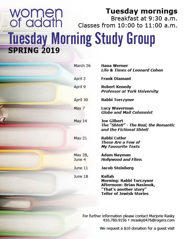 WOA Tuesday Morning Study Group Spring 2019