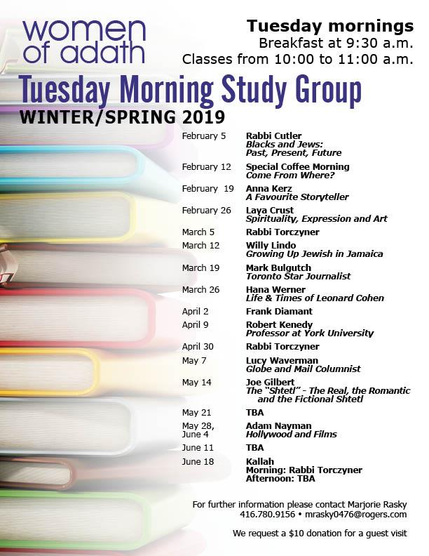 WOA Tuesday Morning Study Group fall 2018