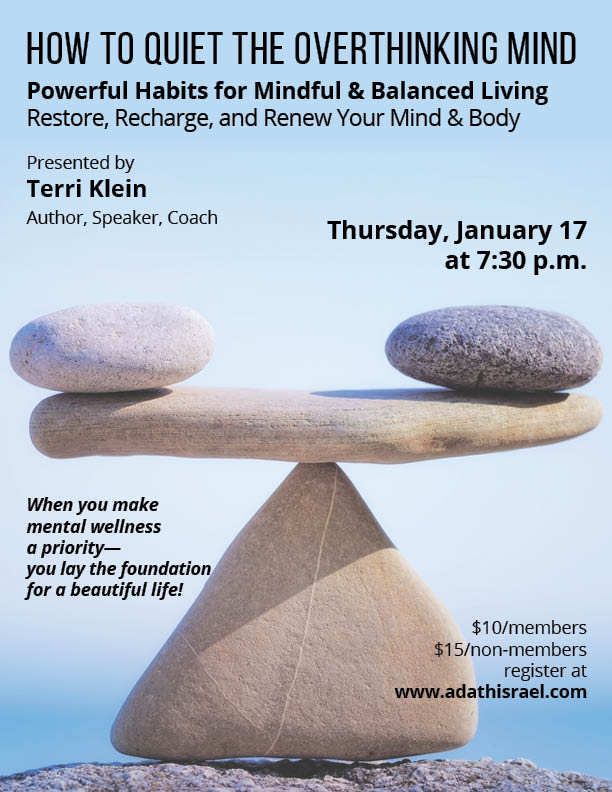 How to Quiet the Overthinking Mind with Terri Klein, Author, Speaker, Coach