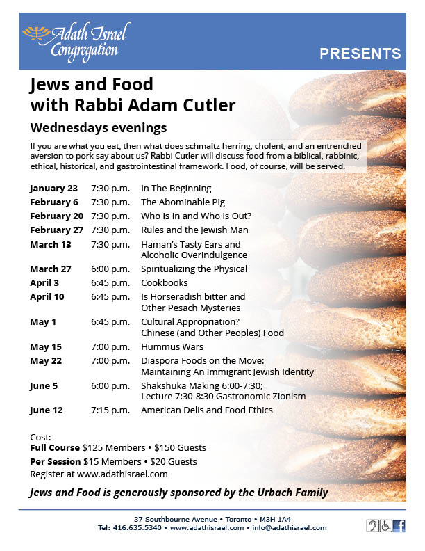 Jews and Food with Rabbi Adam Cutler
