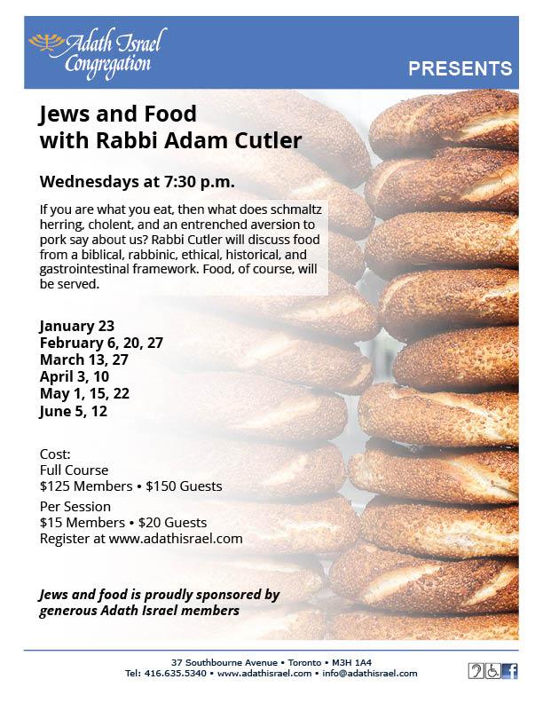 Jews and Food with Rabbi Adam Cutler