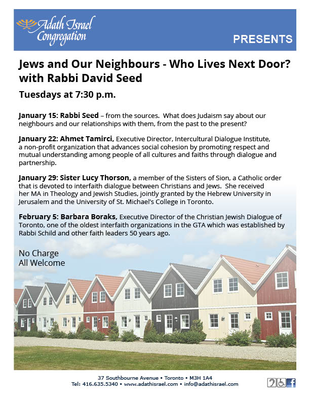 Rabbi Seed: Jews and Our Neighbours – Who Lives Next Door?