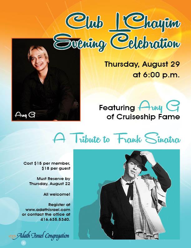 Club L'Chayim Evening Celebration – Thursday, August 29, 2019