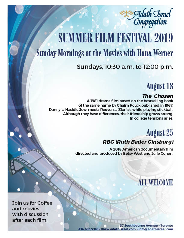 Summer Film Festival 2019 – Sunday Mornings at the Movies with Hana Werner