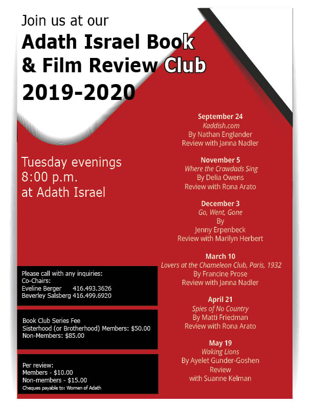 WOA Book & Film Review Club 2019-2020