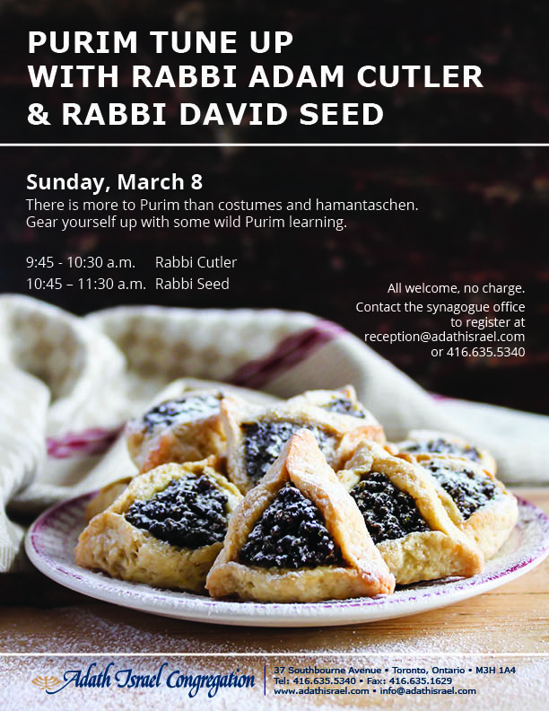 Purim Tune Up – Sunday, March 8