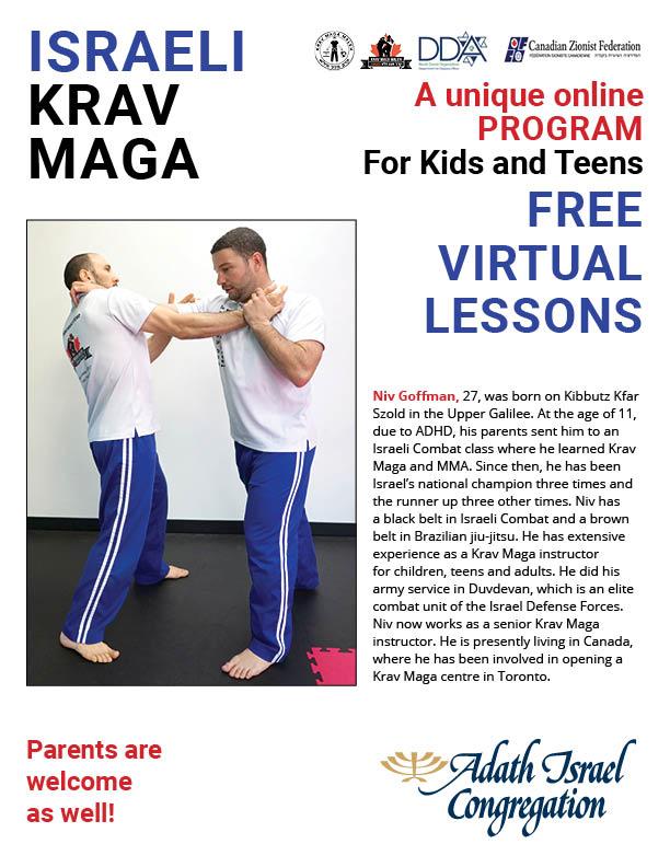 4:00 pm: Krav Maga for kids and teens