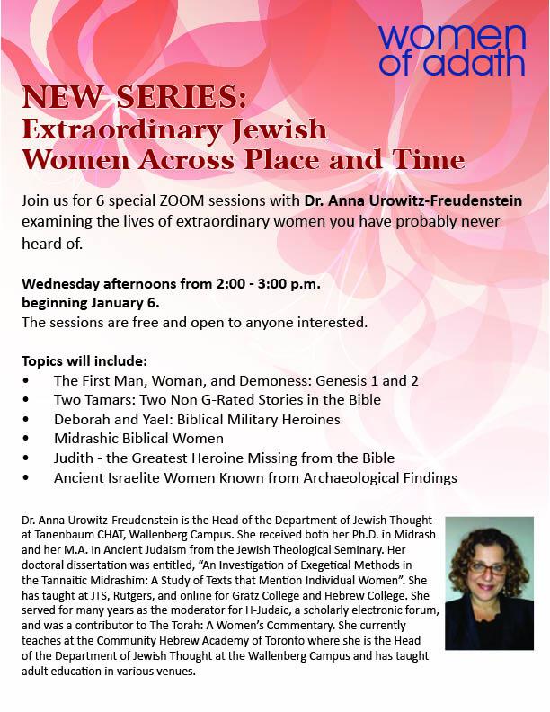 2:00 pm: WOA – Extraordinary Jewish Women