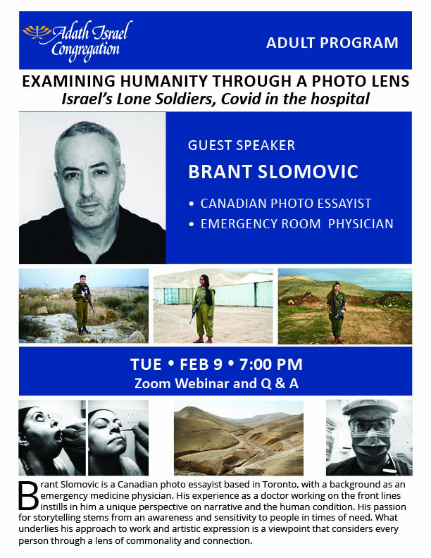 7:00 pm: Brant Slomovic – Canadian Photo Essayist