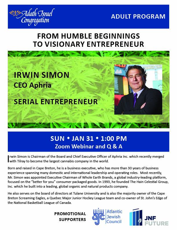 1:00 pm: Irwin Simon – Serial Entrepreneur