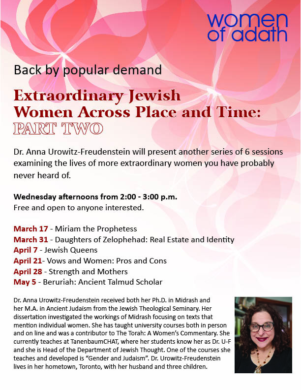2:00 pm: Extraordinary Jewish Women – Part Two
