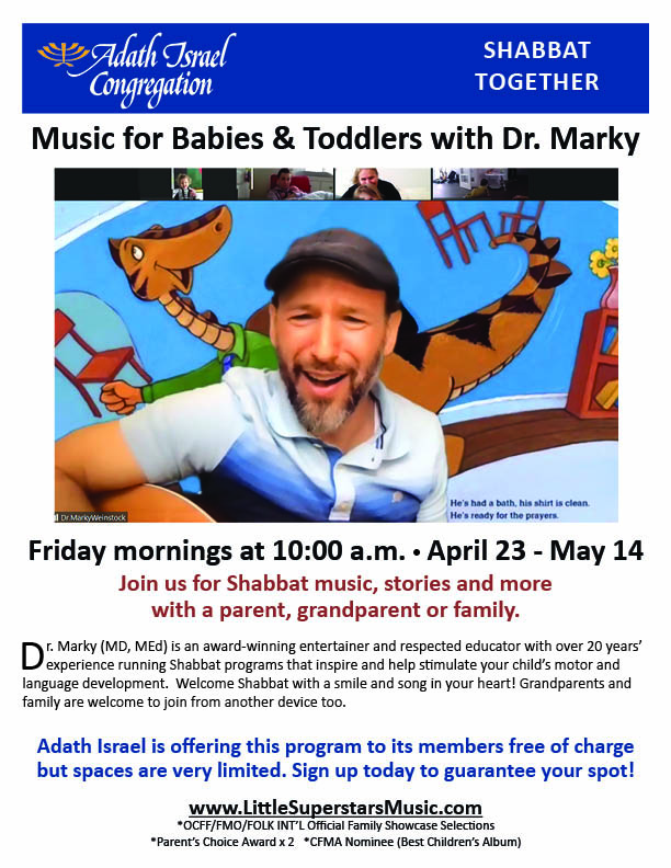 10:00 am: Music for Babies & Toddlers with Dr. Marky