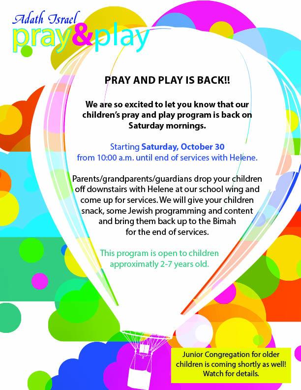 10:00 am: Pray & Play